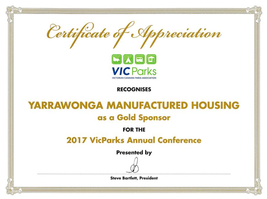 2017 Vic Parks Gold Sponsor