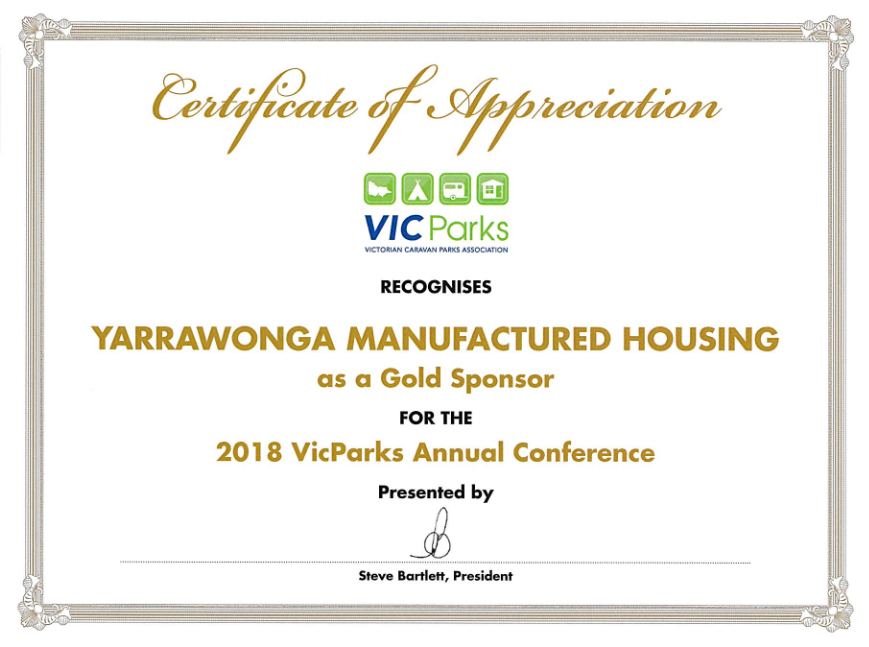 2018 Vic Parks Gold Sponsor